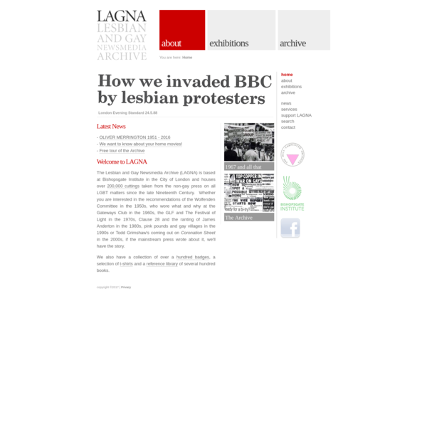 LAGNA - Lesbian and Gay Newsmedia Archive
