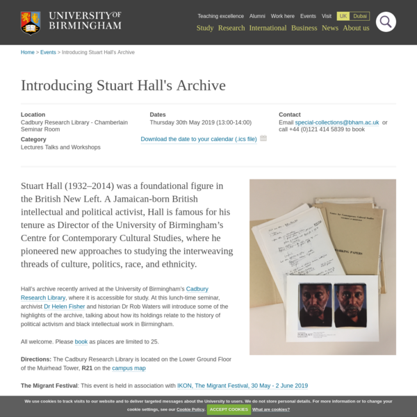 Introducing Stuart Hall's Archive