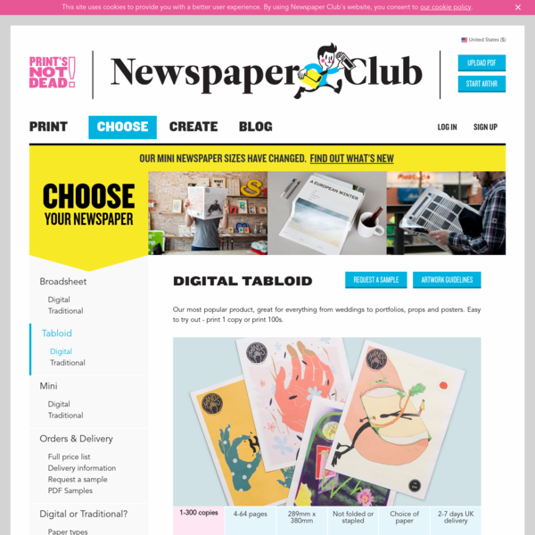 Make and Print a Digital Tabloid Newspaper with Newspaper Club
