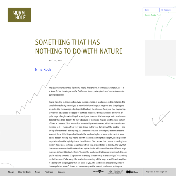 SOMETHING THAT HAS NOTHING TO DO WITH NATURE | Next Wave Festival 2016