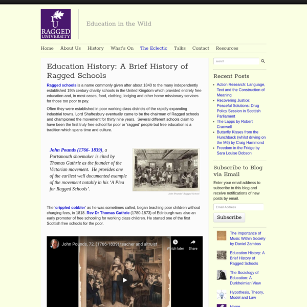 Education History: A Brief History of Ragged Schools - Ragged University