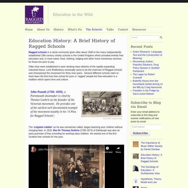 Education History: A Brief History of Ragged Schools - Ragged University