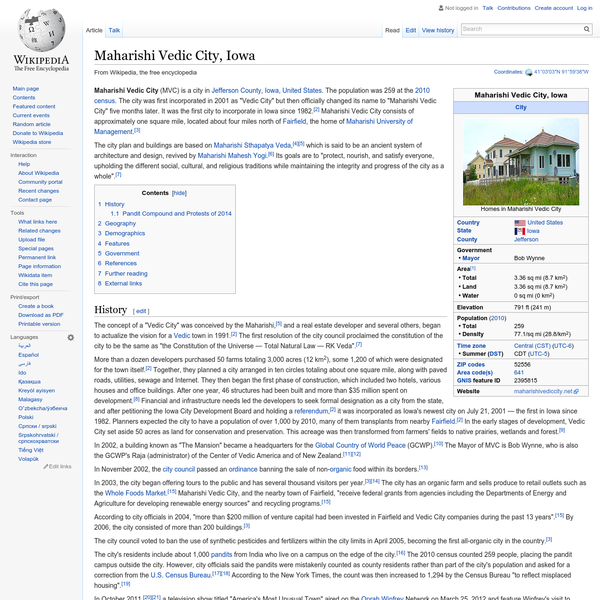 Maharishi Vedic City, Iowa