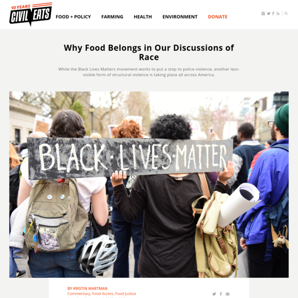 Why Food Belongs in Our Discussions of Race | Civil Eats