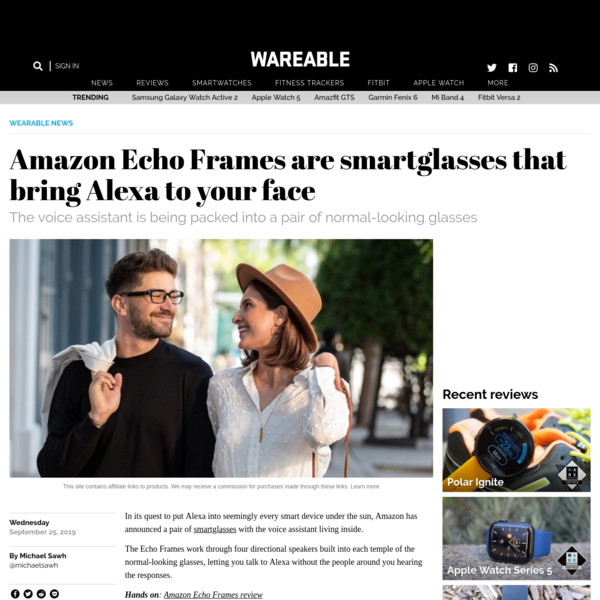 Amazon Echo Frames are smartglasses that bring Alexa to your face
