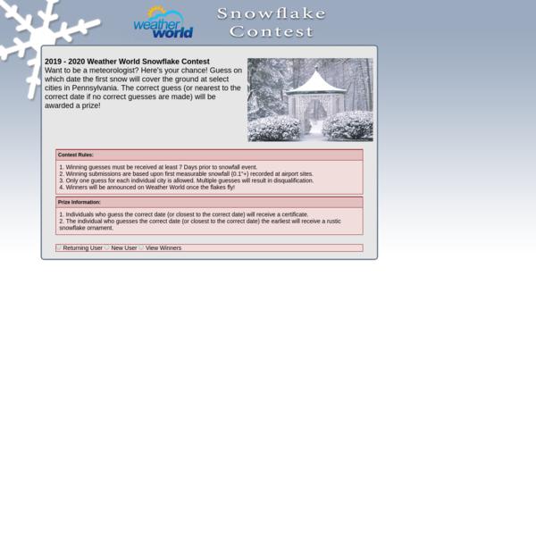 2019 - 2020 Weather World Snowflake Contest