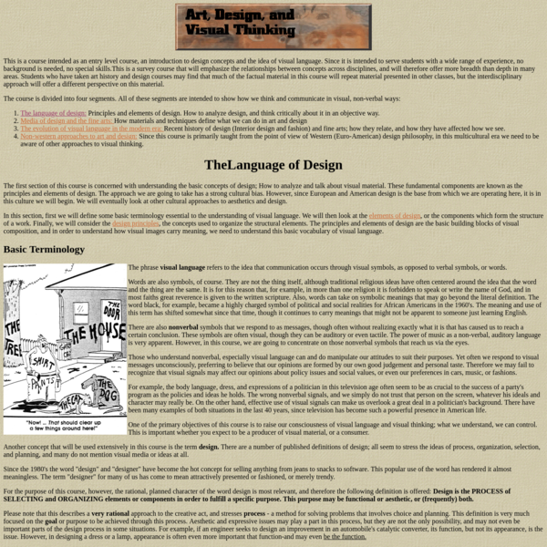 The Language of Design