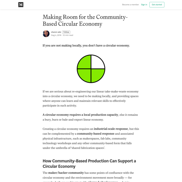 Making Room for the Community-Based Circular Economy
