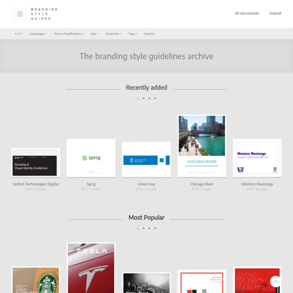 The branding style guidelines archive