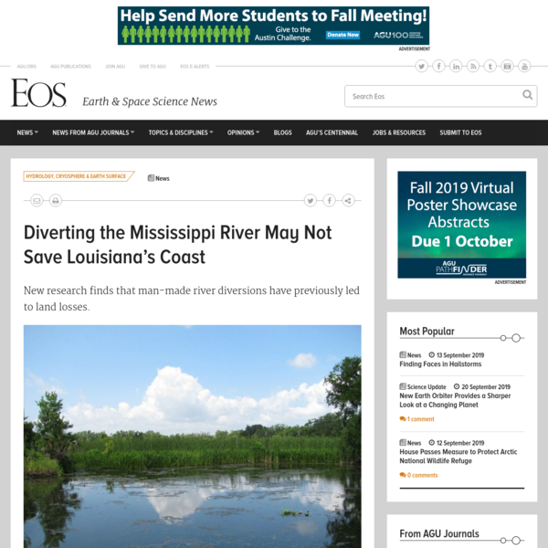 Diverting the Mississippi River May Not Save Louisiana's Coast - Eos