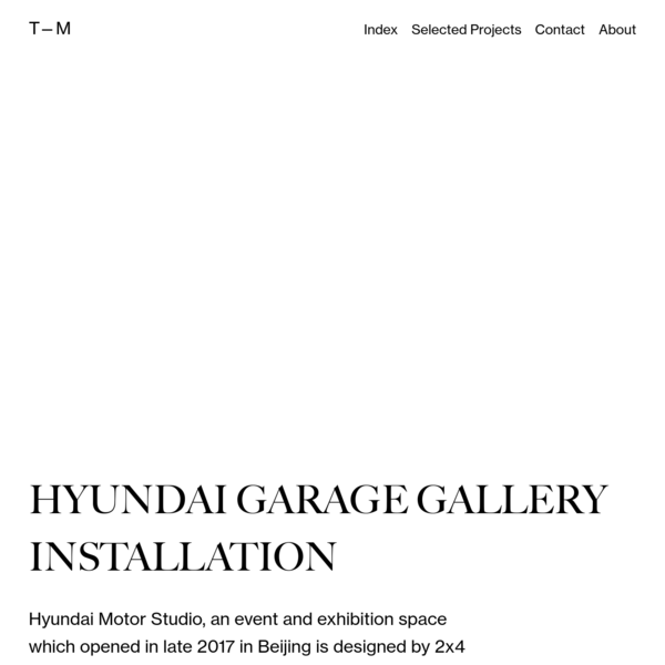 Hyundai Garage Gallery Installation - Tomas Markevicius - Motion, Design & Art Direction
