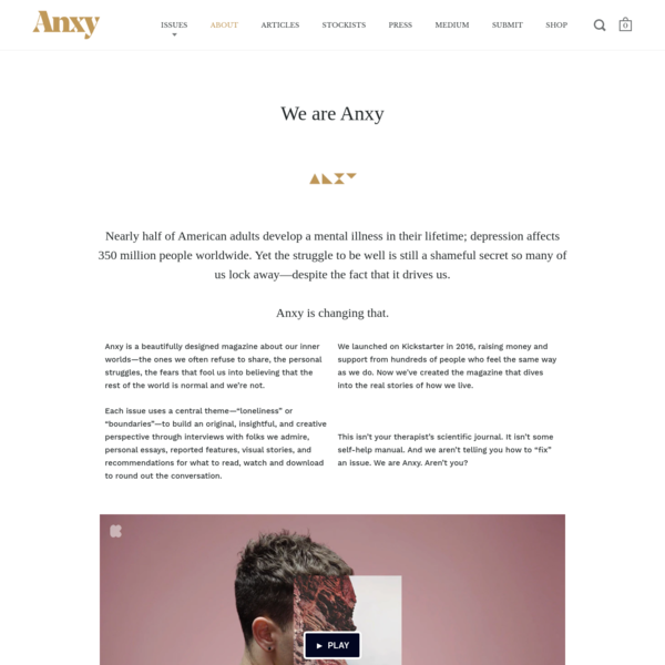 We are Anxy - Anxy Magazine