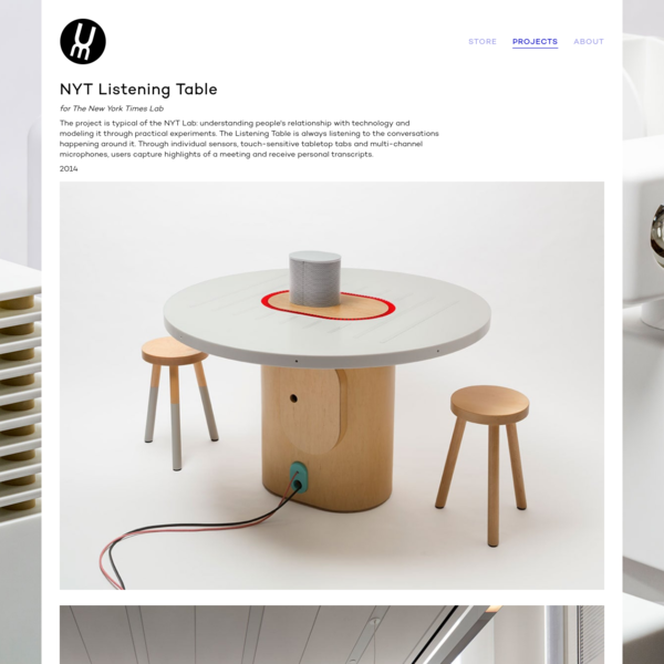 NYT Listening Table - UM Project