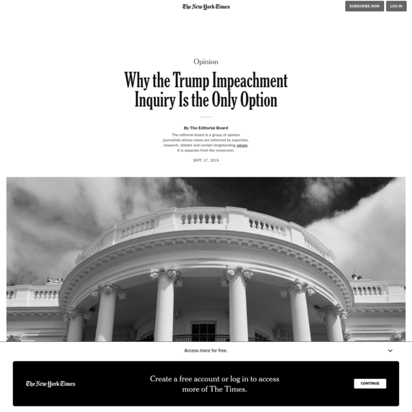 Opinion | Why the Trump Impeachment Inquiry Is the Only Option