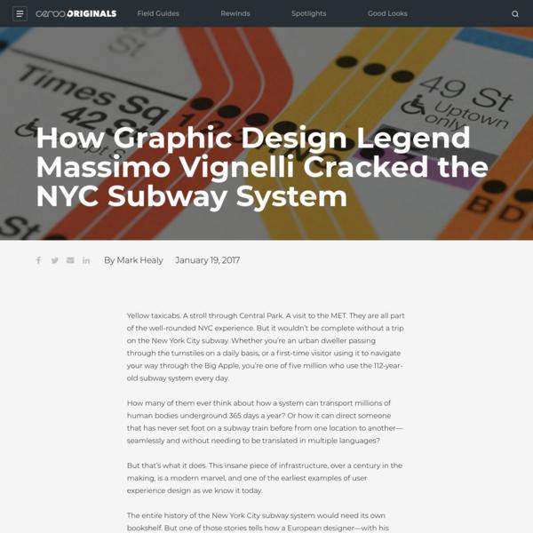 Graphic Design Legend Massimo Vignelli's NYC Subway Design