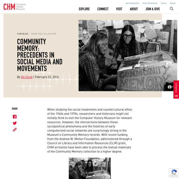 Community Memory: Precedents in Social Media and Movements - CHM
