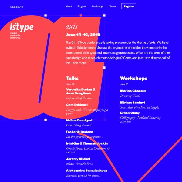ISType 2019 / Axis