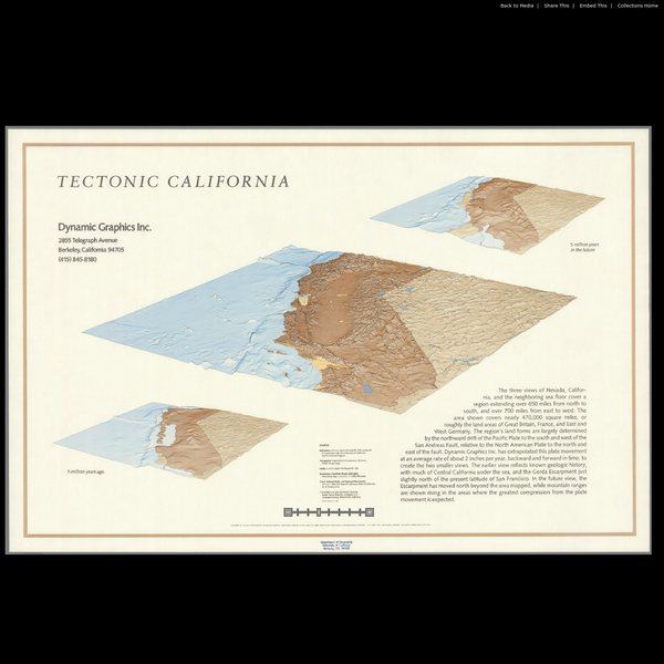 Tectonic California. - David Rumsey Historical Map Collection