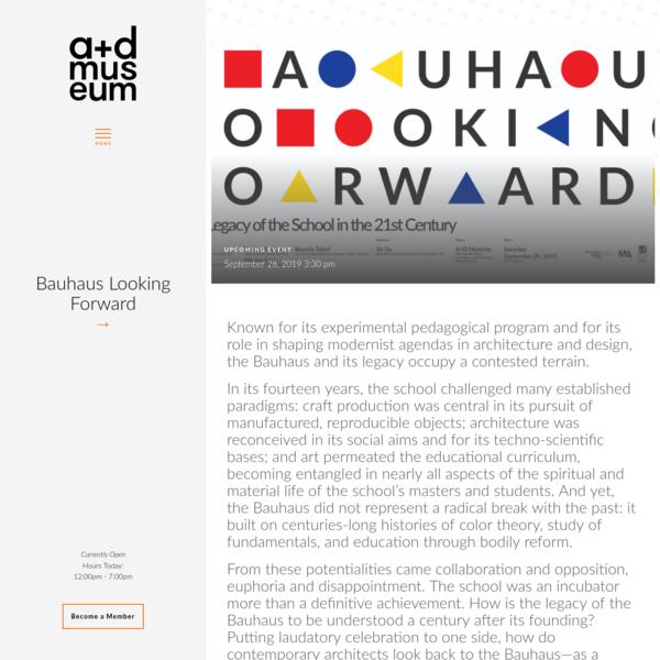 Bauhaus Looking Forward