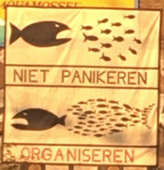 Do Not Panic. Organize.