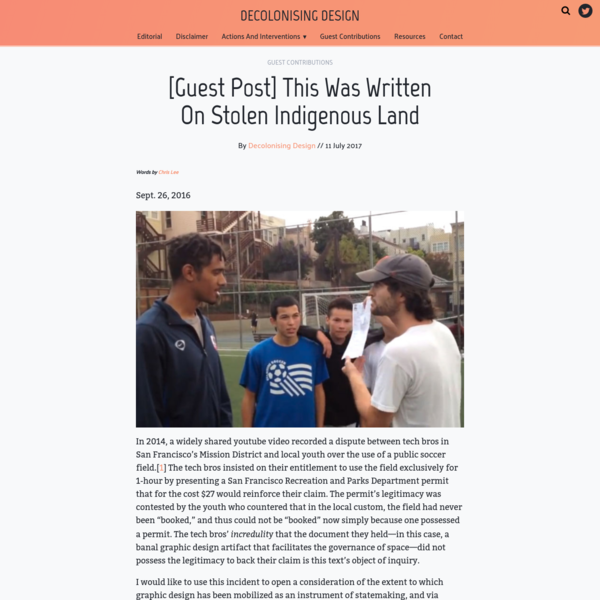 [Guest Post] This Was Written On Stolen Indigenous Land