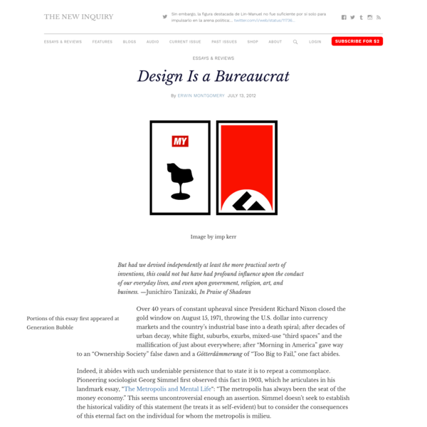 Design Is a Bureaucrat