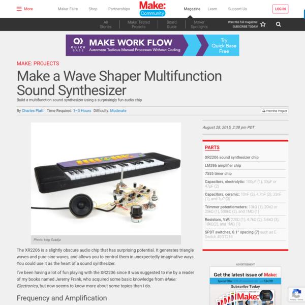 Make a Wave Shaper Multifunction Sound Synthesizer | Make: