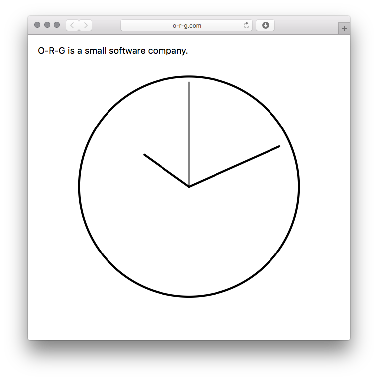 http://o-r-g.com (this website *is* a clock.)