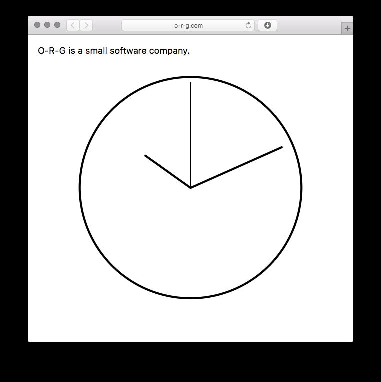 http://o-r-g.com (this website *is* a clock.)