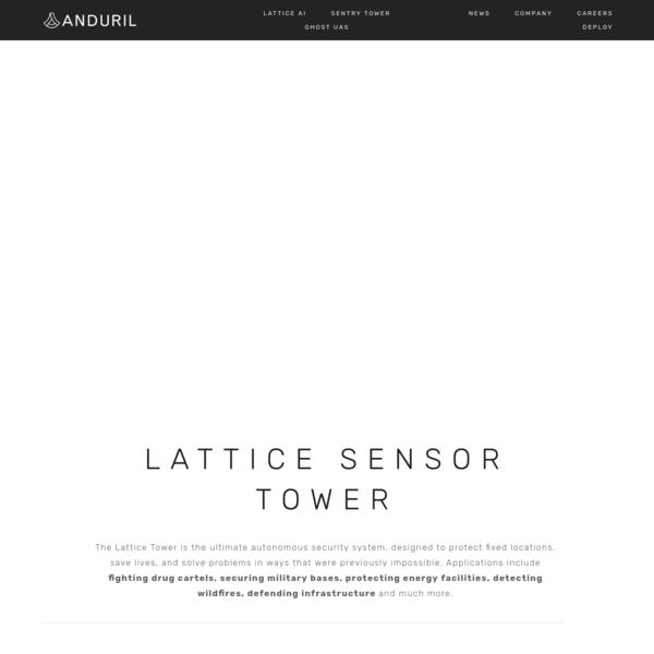 Sensor Tower - Anduril Industries