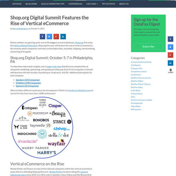 Shop.org Digital Summit Features the Rise of Vertical eCommerce | The DataFox Blog