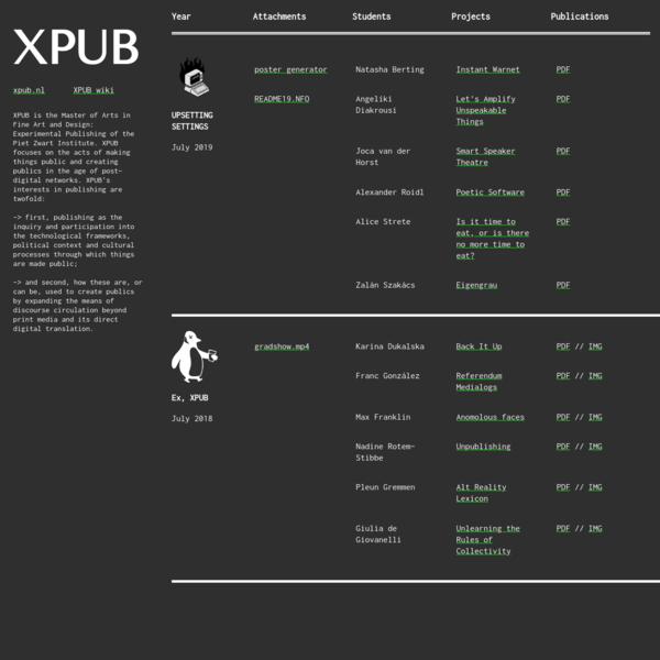 XPUB Grad