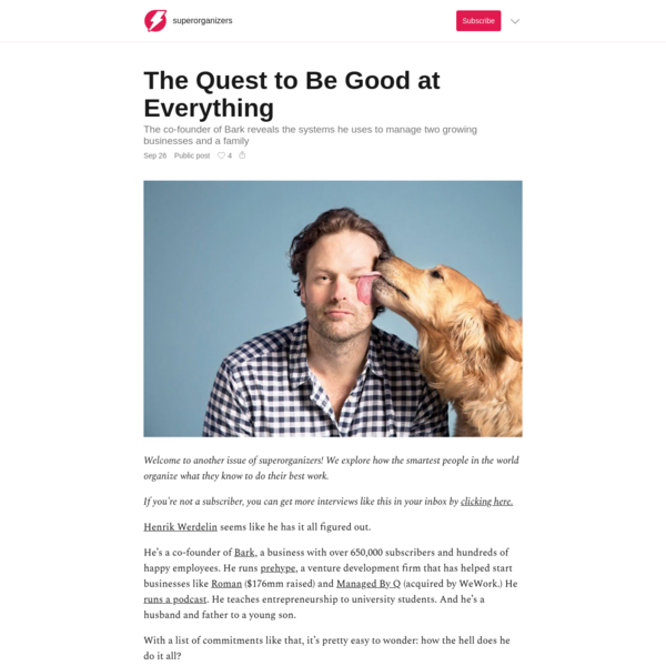 The Quest to Be Good at Everything