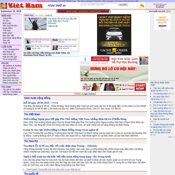* Viet Nam Nhat Bao * Vietnam Daily News