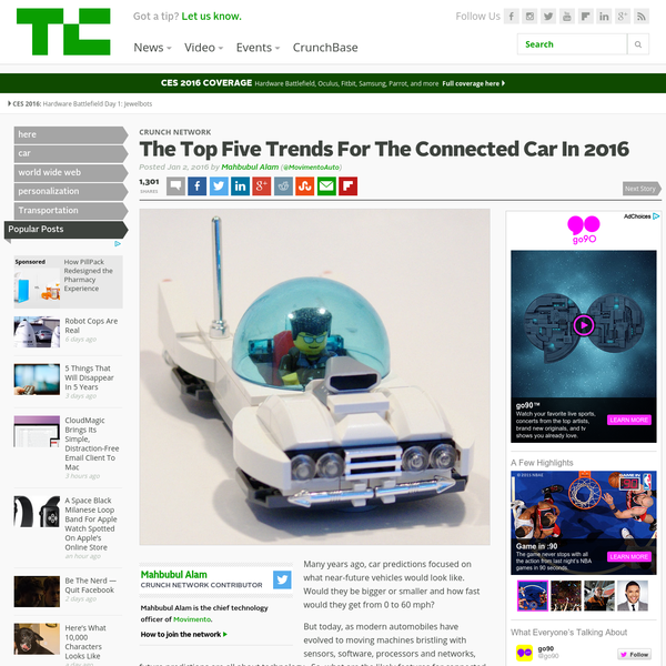 The Top Five Trends For The Connected Car In 2016