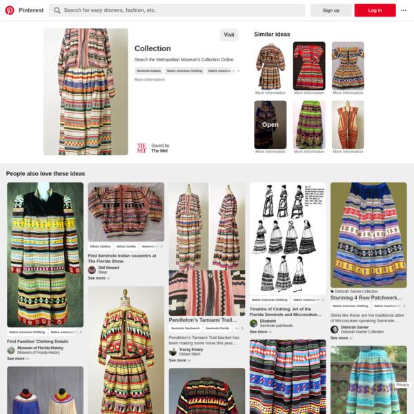 Indigenous American (Seminole peoples) Ensemble, ca. 1800-1945, cotton | Men's Shirts | Native american clothing, Seminole i...
