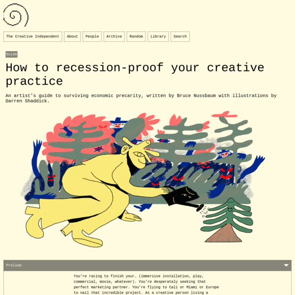 How to recession-proof your creative practice