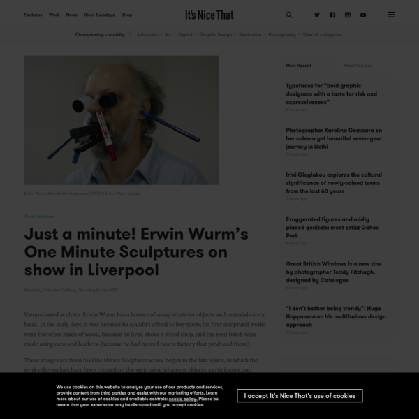 Just a minute! Erwin Wurm's One Minute Sculptures on show in Liverpool