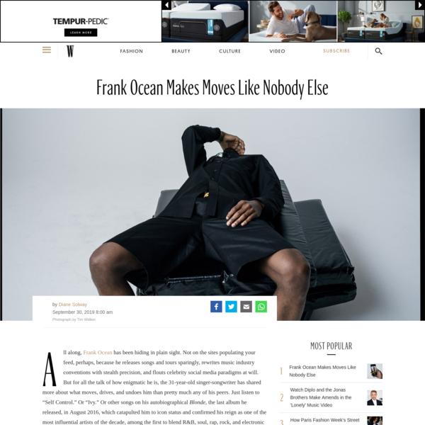 Frank Ocean Makes Moves Like Nobody Else