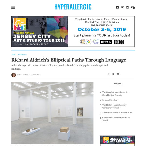 Richard Aldrich's Elliptical Paths Through Language