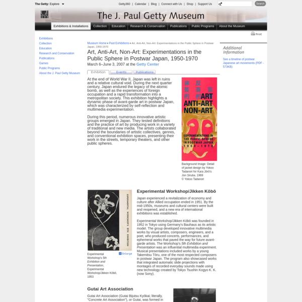Art, Anti-Art, Non-Art (Getty Center Exhibitions)