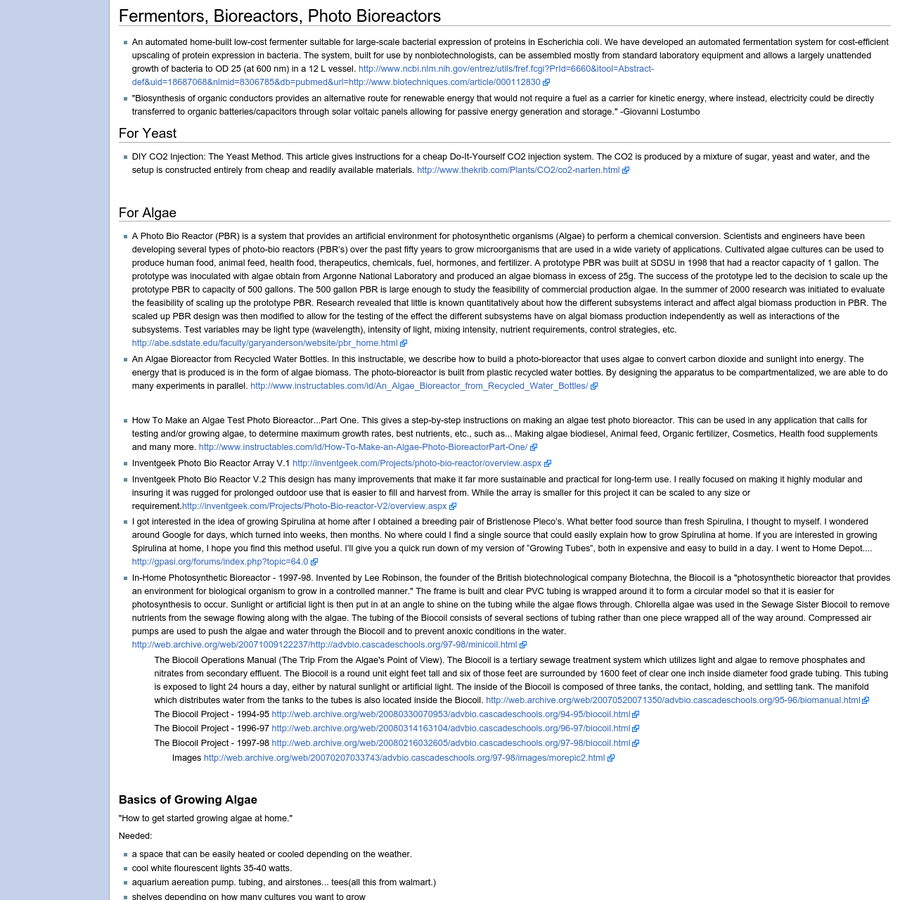 """DIYbio FAQ v1.5: """"The biohacker's FAQ"""" This FAQ for DIYbio is actively maintained by it's editors, and by you! Edit your contributions directly or email updates to the DIYbio email list, diybio@googlegroups.com. Major contributors (in alphabetical order): The contents of this FAQ are copyright under the OpenWetWare Copyright policy (Creative Commons Attribution-ShareAlike 3.0 Unported)."""