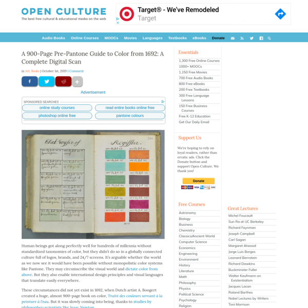 A 900-Page Pre-Pantone Guide to Color from 1692: A Complete Digital Scan