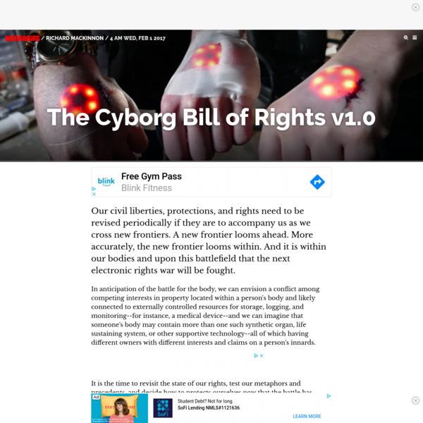 The Cyborg Bill of Rights v1.0