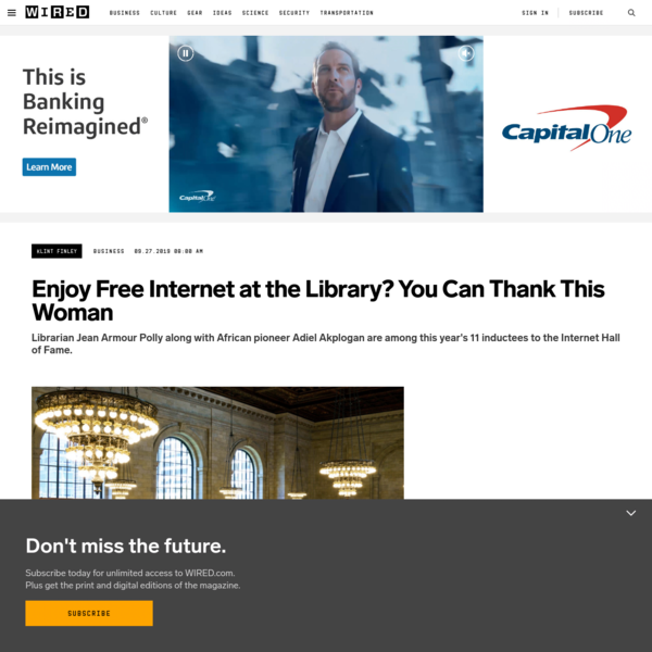 Enjoy Free Internet at the Library? You Can Thank This Woman