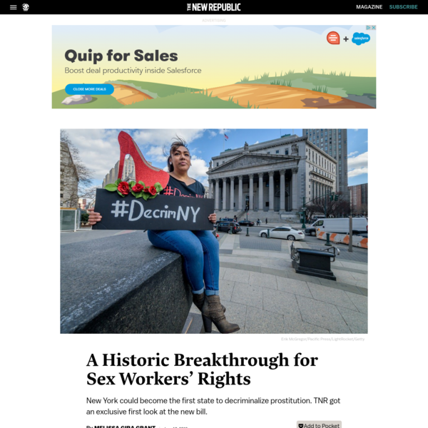 A Historic Breakthrough for Sex Workers' Rights