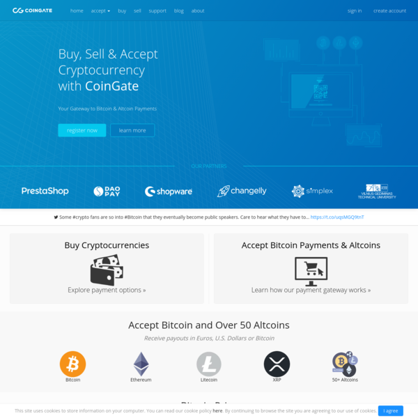 Buy, Sell & Accept Cryptocurrencies - CoinGate