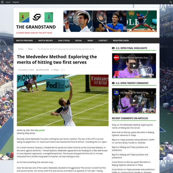 The Medvedev Method: Exploring the merits of hitting two first serves