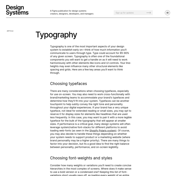 Design Systems Typography Guide