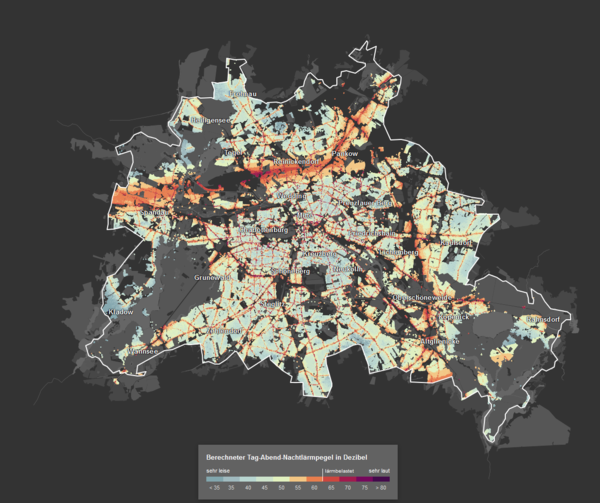 Noise pollution map of Berlin
